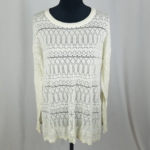 Territory Ahead XL open knit sweater long sleeve